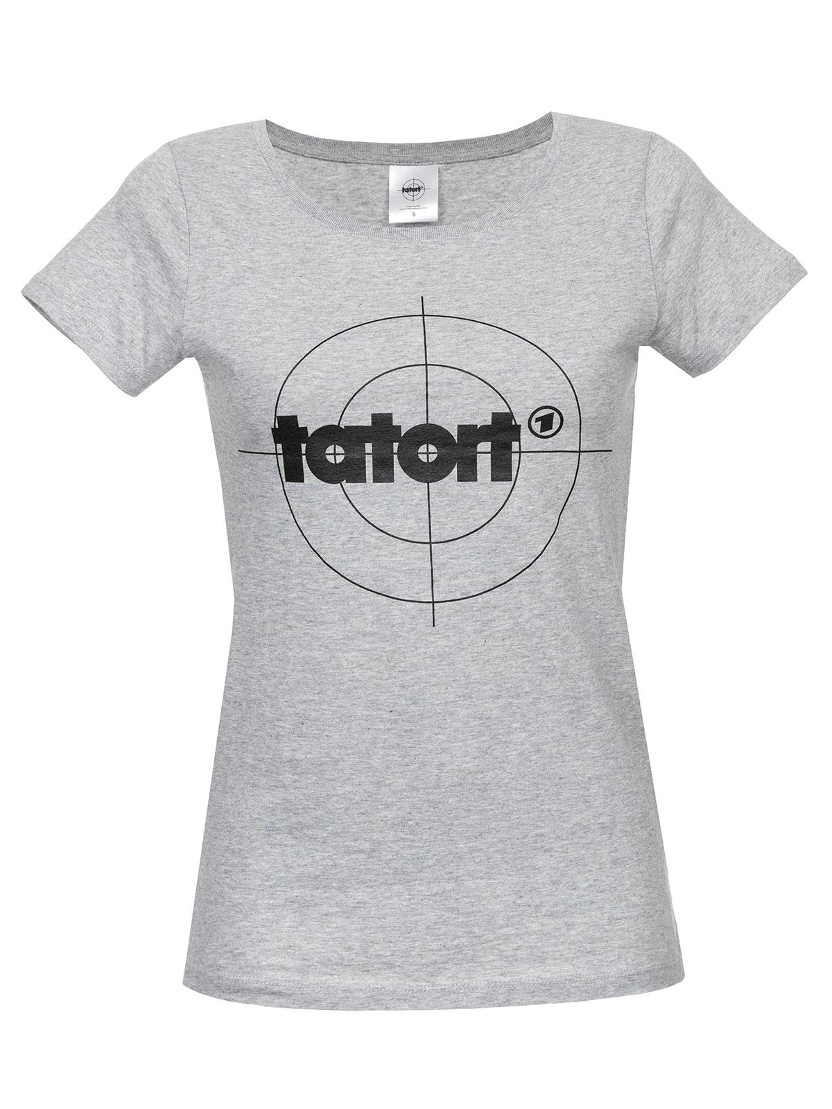 Oberteile - Tatort Classic Girl Shirt grau meliert – Größe XS  - Onlineshop NAPO Shop