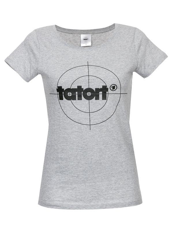 Tatort Classic Girl Shirt grau meliert – Bild 0