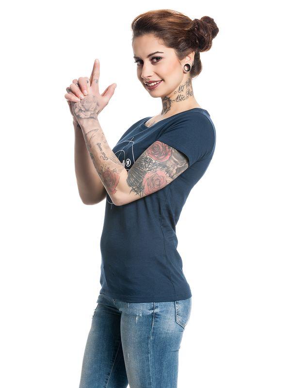 Tatort Classic Girl Shirt navy – Bild 5