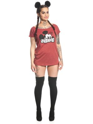 Disney Covert Mickey Mouse Frauen Shirt rot -mel. – Bild 1
