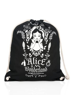 Alice in Wonderland Mirror Turnbeutel Schwarz – Bild 3