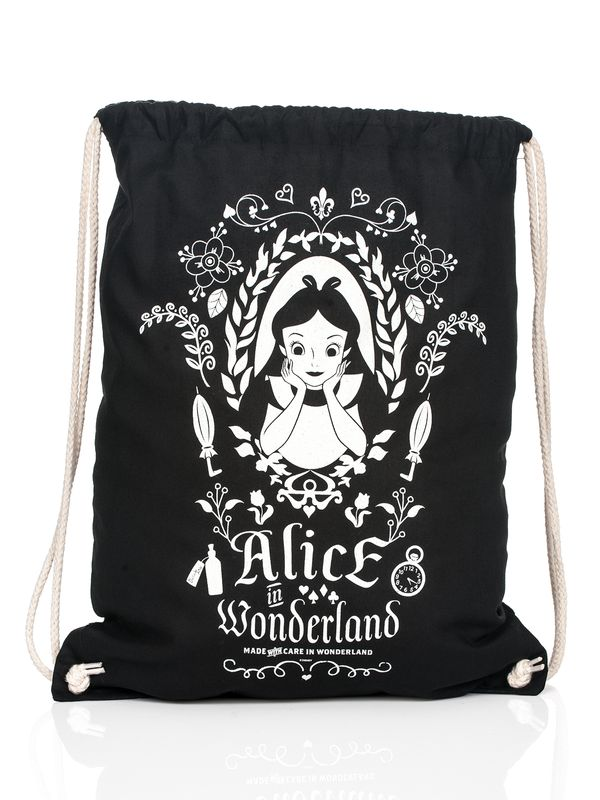 Alice in Wonderland Mirror Turnbeutel Schwarz – Bild 1