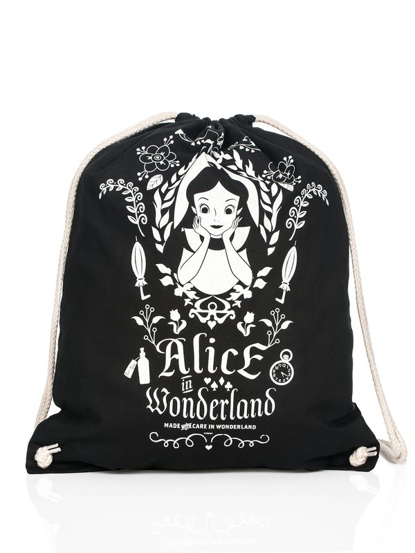 Alice in Wonderland Mirror Turnbeutel Schwarz – Bild 4