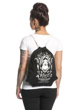 Alice in Wonderland Mirror Gym Bag Black – Bild 1