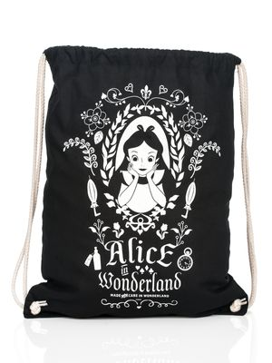 Alice in Wonderland Mirror Turnbeutel Schwarz – Bild 0