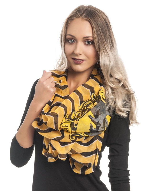 Harry Potter Hufflepuff Loop Schal Allover – Bild 2