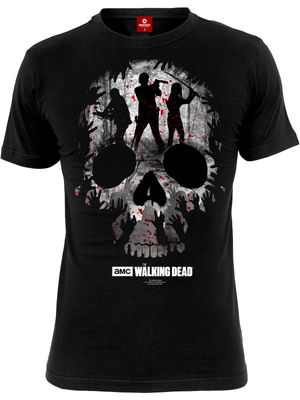 The Walking Dead Skull Damen T-Shirt Schwarz – Bild 3