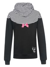Pussy Deluxe Houndstooth Shawl Hoodie black allover – Bild 0