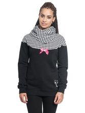 Pussy Deluxe Houndstooth Shawl Hoodie black allover – Bild 1