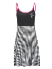 Pussy Deluxe Houndstooth College Dress black/allover – Bild 0