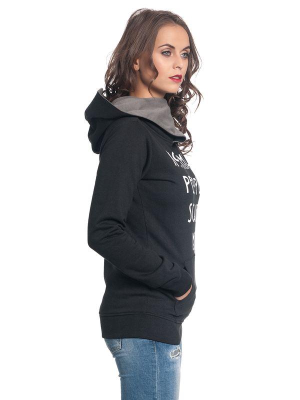 American Horror Story Normal People Shawl Hoodie Damen Kapuzenpullover schwarz/grau – Bild 4