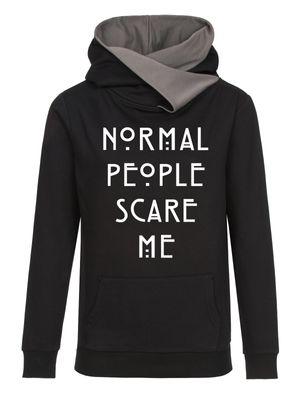 American Horror Story Normal People Shawl Hoodie Damen Kapuzenpullover schwarz/grau – Bild 0