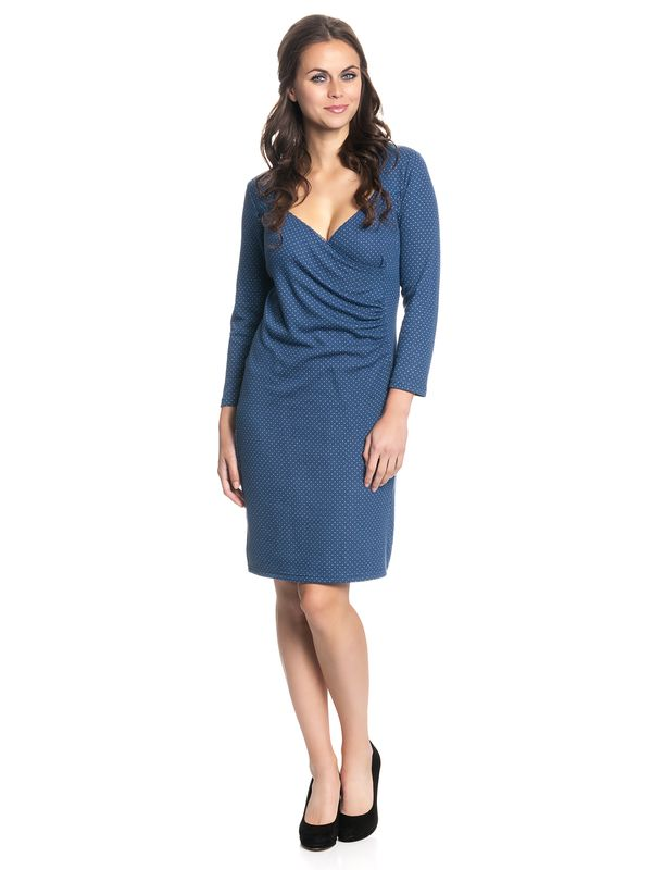 Vive Maria Audrey Wrapdress Blue Allover – Bild 2