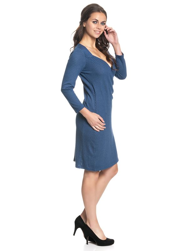 Vive Maria Audrey Wrapdress Blue Allover – Bild 3