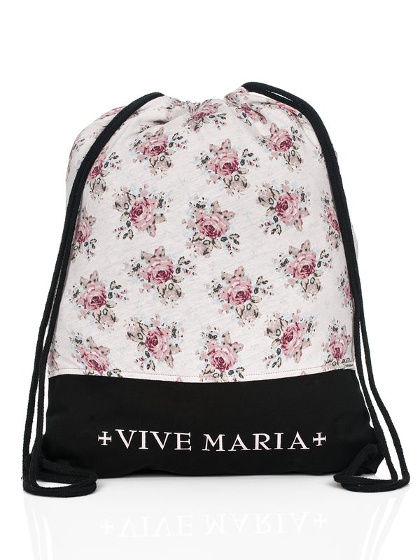 VIVE MARIA Roses Gym Bag Black Allover – Bild 0