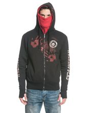 The Walking Dead Kill Or Die Ninja Hooded Jacket for Men Black Gray – Bild 3