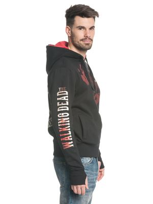 The Walking Dead Kill Or Die Herren Ninja Kapuzenjacke Schwarz Grau – Bild 1