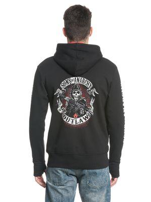 Sons of Anarchy American Outlaw Herren Ninja Kapuzenjacke Schwarz Rot – Bild 3