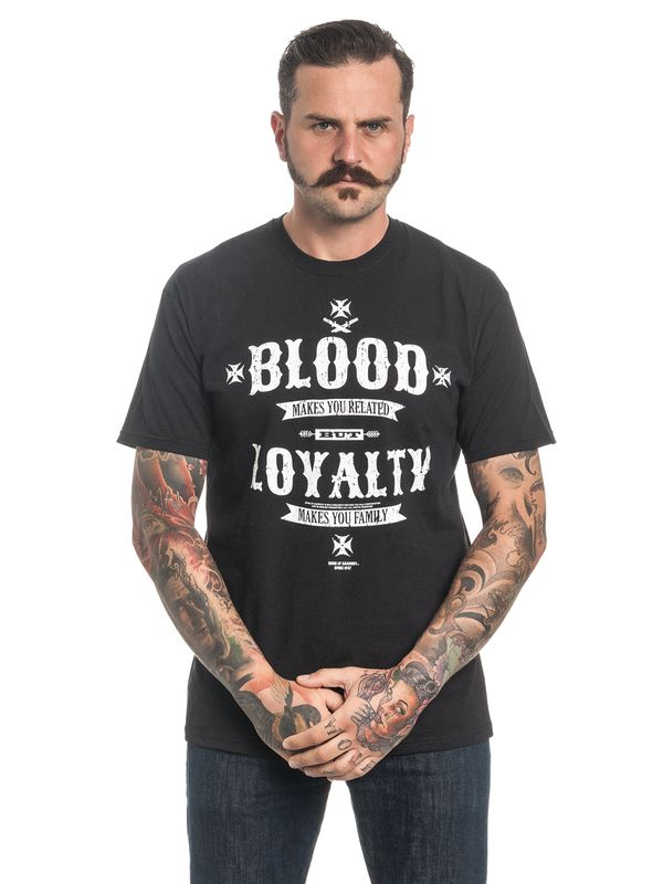 Sons of Anarchy Blood Loyalty Tee for Men Black – Bild 3