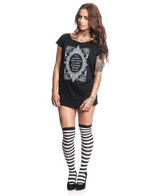 Alice im Wunderland Don't Know Where To Go Damen Loose T-Shirt Schwarz – Bild 0