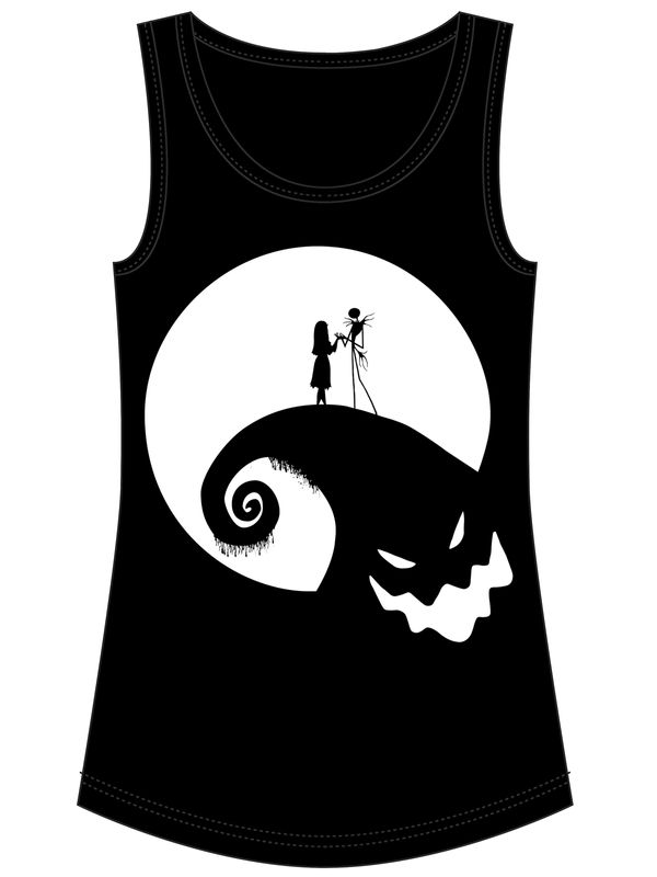 Nightmare Before Christmas Moonlight Boogieman Damen Top Schwarz – Bild 3