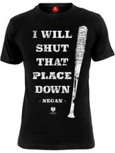 The Walking Dead Shut That Shit Down  Herren T-Shirt Schwarz – Bild 3