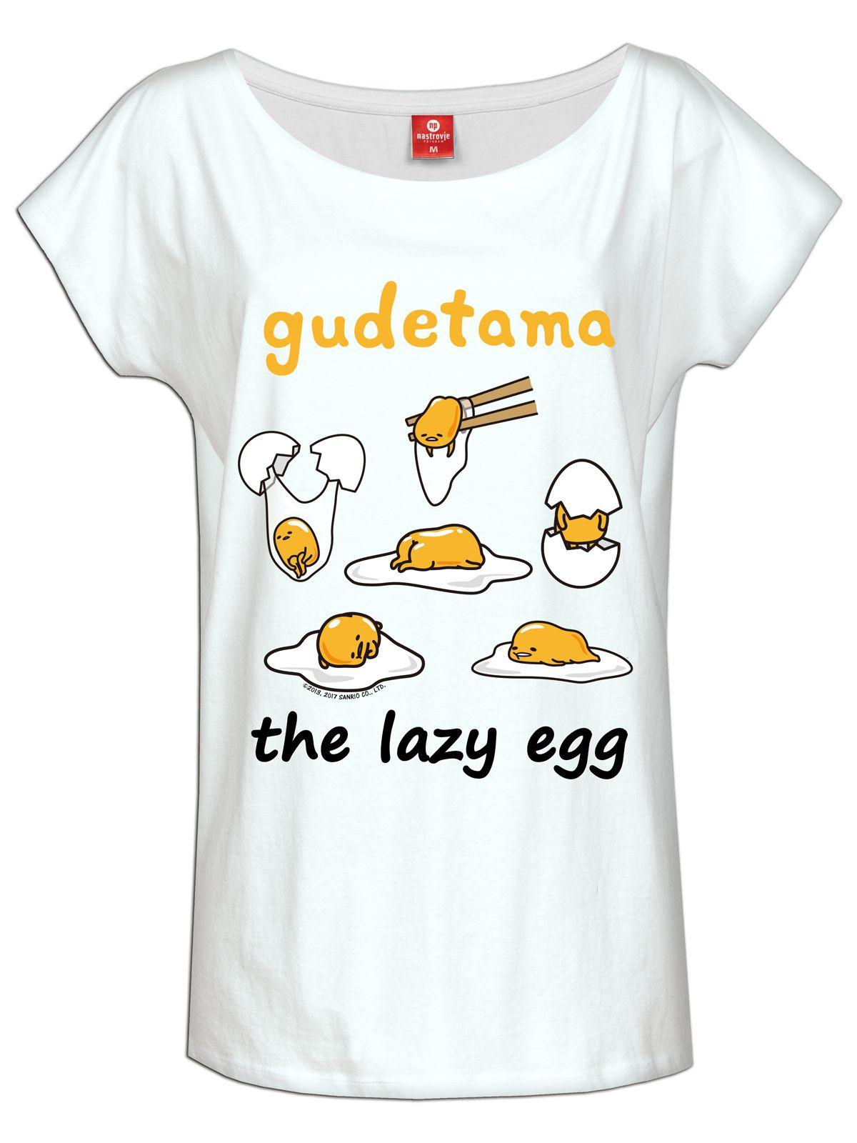 Gudetama The Lazy Egg Tee For Women White Women Shirts
