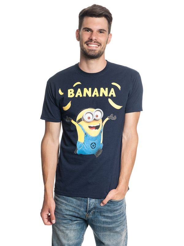 Minions Banana Tee for Men Navy – Bild 1