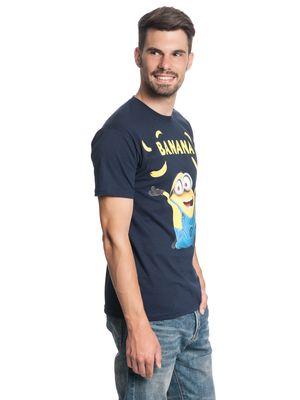Minions Banana Herren T-Shirt Navy – Bild 2