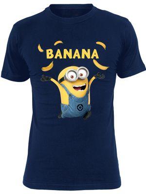 Minions Banana Herren T-Shirt Navy – Bild 0