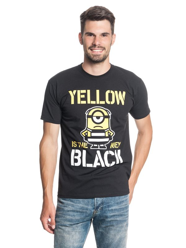Minions Yellow New Black Tee for Men Black – Bild 1