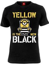 Minions Yellow New Black Tee for Men Black – Bild 0