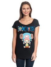 One Piece Chopper Tee for Women Black – Bild 1