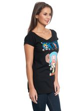 One Piece Chopper Tee for Women Black – Bild 2