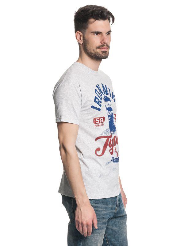 Mike Tyson Vintage Gym Herren T-Shirt Grau Melange – Bild 1