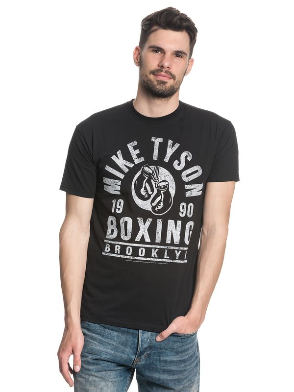 Mike Tyson Boxing Gloves Herren T-Shirt Schwarz – Bild 1