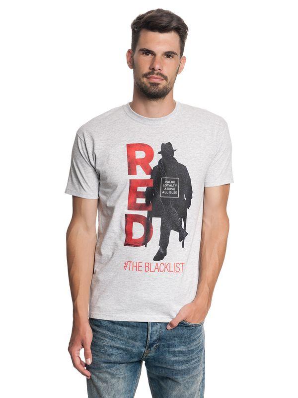Blacklist Red Male Tee Gray Melange – Bild 2