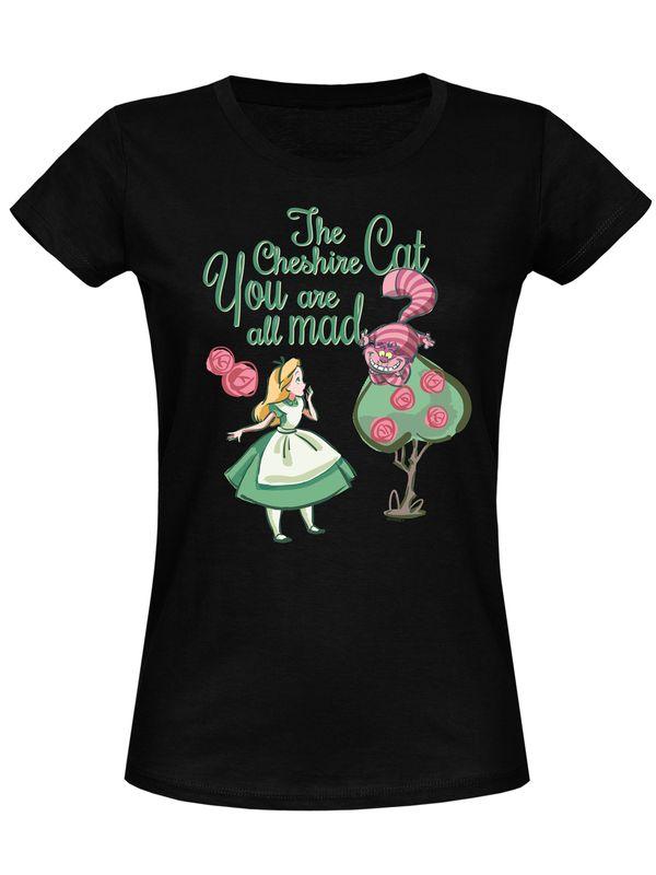 Alice im Wunderland All Mad Damen T-Shirt Schwarz – Bild 3