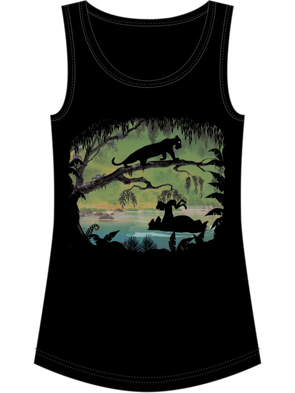 The Jungle Book In The Trees Top for Women Black – Bild 4