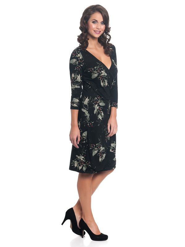 Vive Maria Parisienne Wrapdress Black Allover – Bild 3