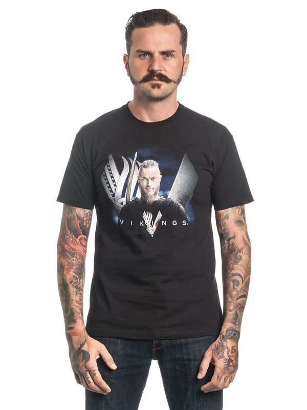 Vikings Ragnar Classic Tee for Men Black view