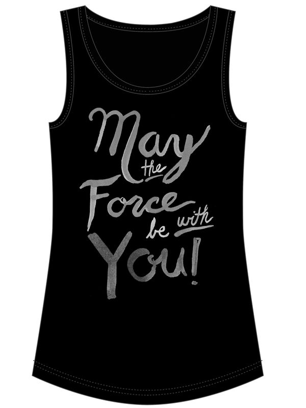 Star Wars May The Force Girl Top black – Bild 4