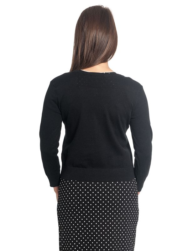 Vive Maria 50ies Short Knit-Cardigan Black – Bild 7