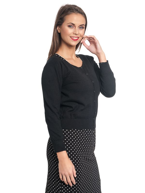 Vive Maria 50ies Short Knit-Cardigan Black – Bild 6