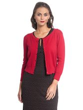 Vive Maria 50ies Look Short-Knit-Cardigan red – Bild 0