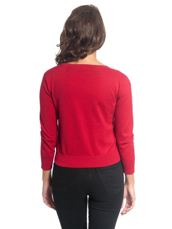 Vive Maria 50ies Look Short-Knit-Cardigan red – Bild 5
