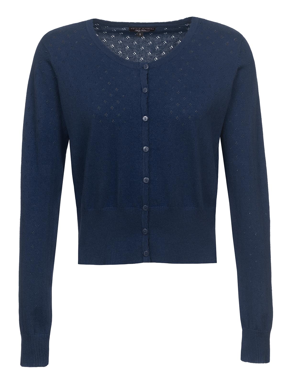 Vive Maria Sweetheart Short Knit-Cardigan navy Women sweater ...