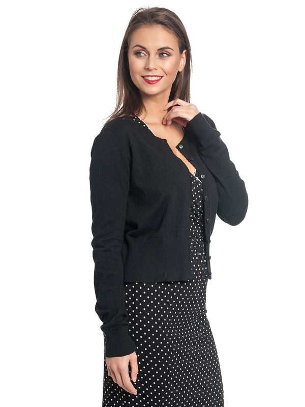 Vive Maria Sweetheart Short Knit-Cardigan black – Bild 2