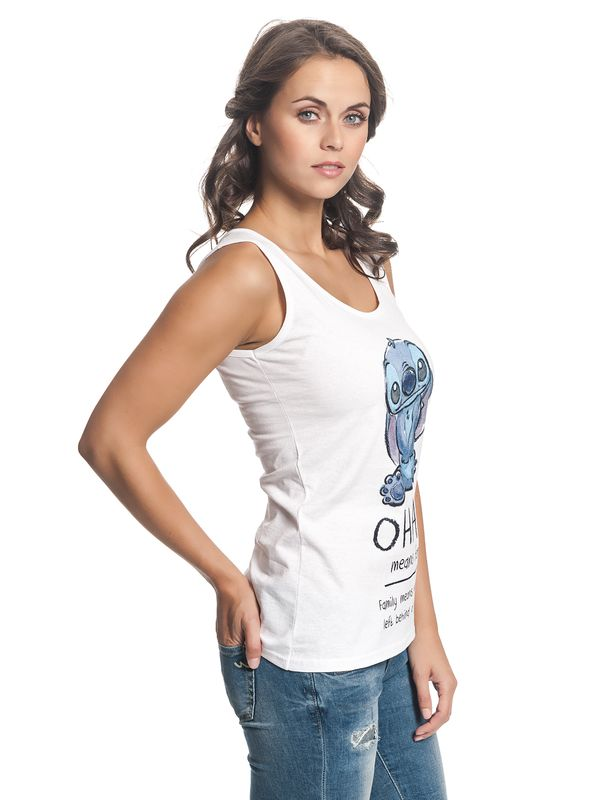 Lilo & Stitch Ohana Means Family Top for Women white – Bild 2