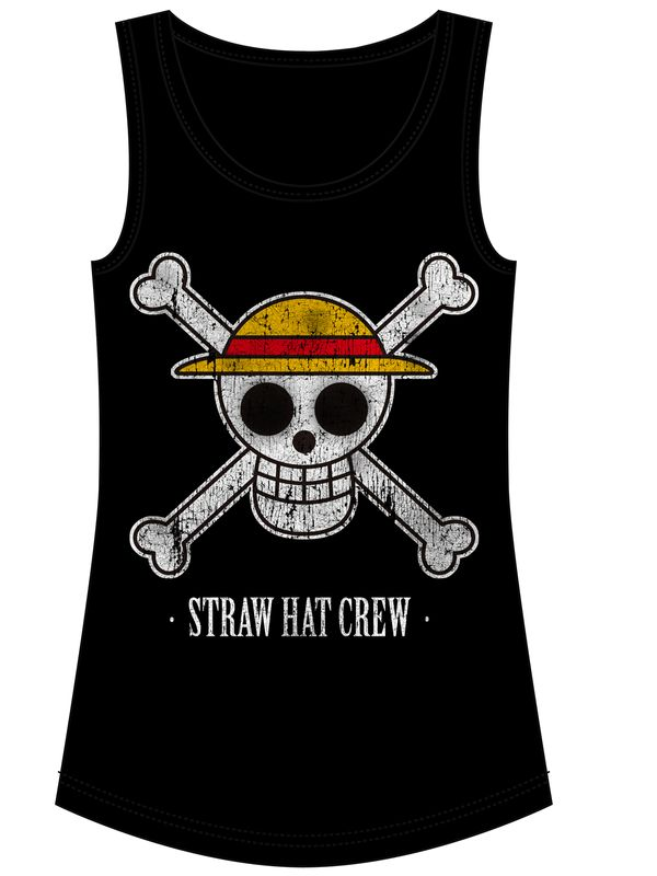 ONE PIECE Straw Hat Crew Damen Tanktop Schwarz – Bild 1